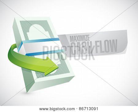Maximize Cash Flow Money Sign Illustration