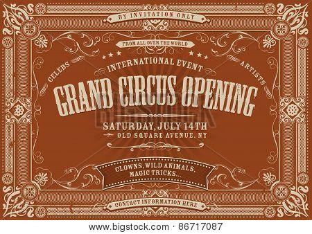 Vintage Horizontal Circus Background