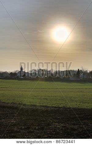 Blinding Sun Over Ottersleben Hdr