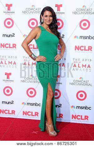 LOS ANGELES - SEP 27:  Angelique Cabral at the 2013 ALMA Awards - Arrivals at Pasadena Civic Auditorium on September 27, 2013 in Pasadena, CA