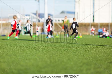 Blur Of Boys Playing Soccer