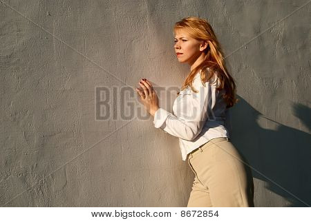 Girl About A Wall