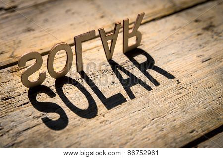 Wooden Letters Build The Word Solar