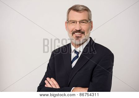 Businessman Posing With Confidence