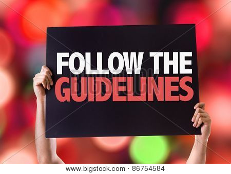Follow the Guidelines card with bokeh background