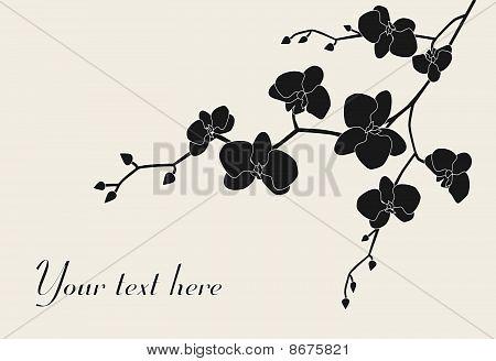 Stilisierte Orchidee Zweig