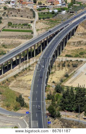 Modern highway, Lorca, Murcia, Spain