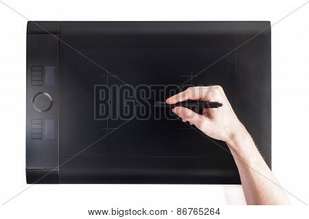 Graphic Pen Tablet With Hand