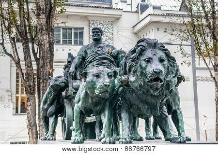 Statue Of Marcus Antonius In Vienna, Austria