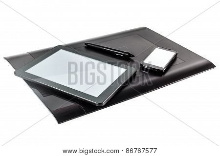 Graphic Pen Tablet, I-pad And Phone