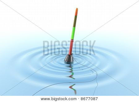 Fishing Bobber on the water