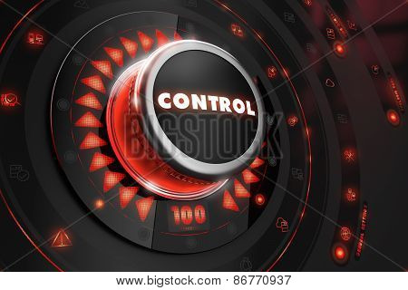 Control Regulator on Black Console.