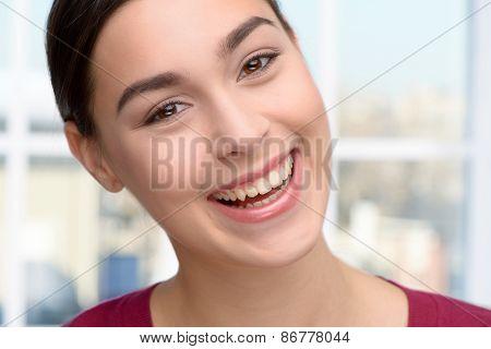 Young woman visiting stomatologist