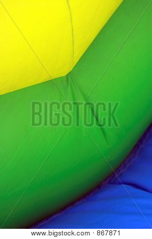 Bands Of Color On Inflatable Bouncy