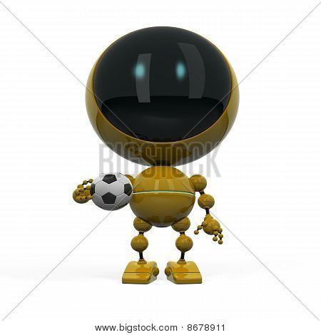 Robot With Football Ball