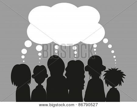 People with speech bubbles. EPS 8