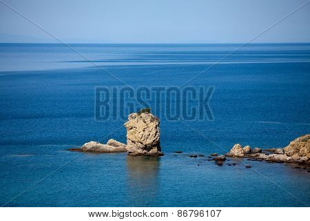 Beautiful Sea With Rocky Coast