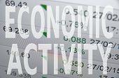 """Inscription """"Economic activity"""". Abstract economic concept. Business concept. poster"""