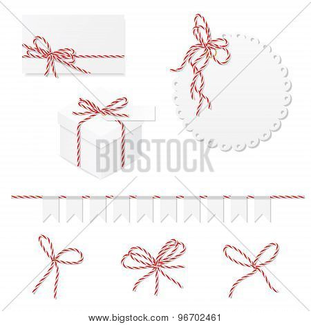 Celebration set with bakers twine bows