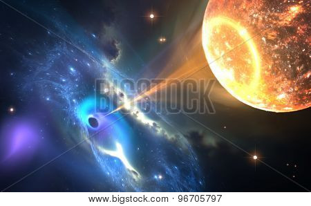 Black Hole Or A Neutron Star And Pulling Gas From An Orbiting Companion Star.