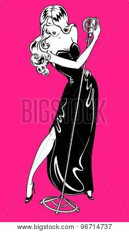 Retro Singer Woman