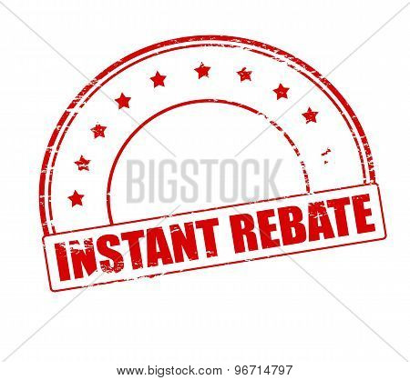 Rubber stamp with text instant rebate inside vector illustration