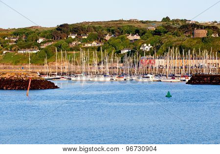 View On Harbour In Howth Peninsula