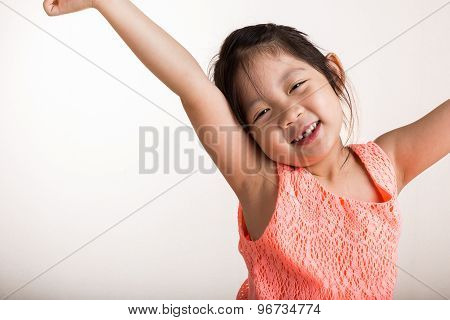 Child Stretching / Child Stretching In Morning Background