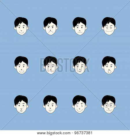 Smiley faces emoticon set