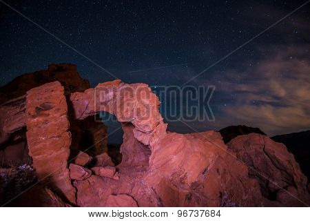 Valley Of Fire At Night