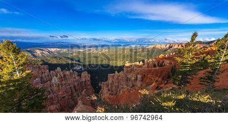 Ponderosa Canyon Lid By Beautiful Sunset Light