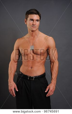 attractive military guy