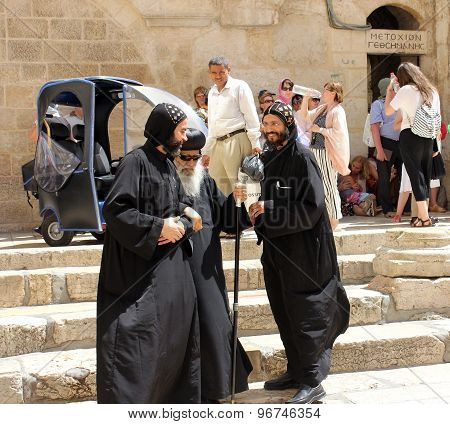 Coptic Bishop Visits The Holy Sepulcher In Jerusalem
