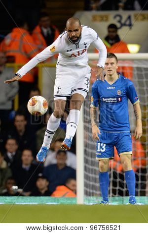 LONDON, ENGLAND - September 19 2013: Tottenham's Sandro during the UEFA Europa League match between Tottenham Hotspur and Tromso played at The White Hart Lane Stadium.