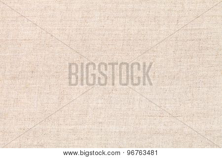 Natural Textile Background From Unpainted Fabric