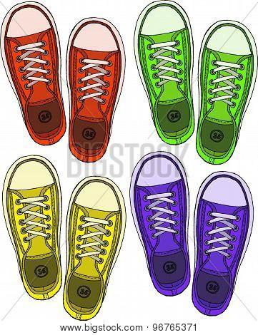 Sketch Of Sneakers