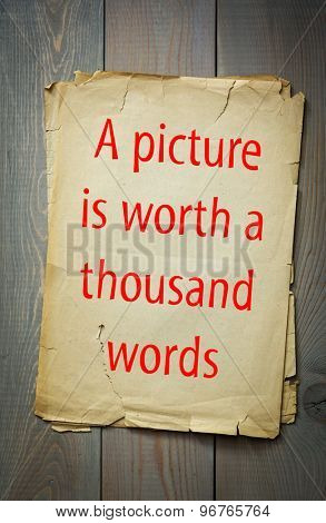 English proverb: A picture is worth a thousand words. 50 most important english proverbs series