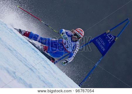 GARMISCH PARTENKIRCHEN, GERMANY. Feb 17 2011: Sara Hector (SWE) competing in the women's giant slalom  race  at the 2011 Alpine skiing World Championships