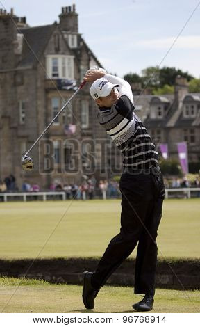 ST ANDREWS, SCOTLAND. July 18 2010: Nick WATNEY from the USA in action during the final round of The Open Championship   played on The Royal and Ancient Old Course