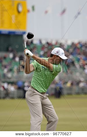 ST ANDREWS, SCOTLAND. July 15 2010: Padraig HARRINGTON from the Republic of Ireland in action on the first day of The Open Championship   played on The Royal and Ancient Old Course