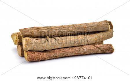 Liquorice Roots Isolated On White Background
