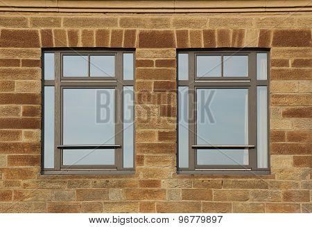 Freestone Facade With Windows