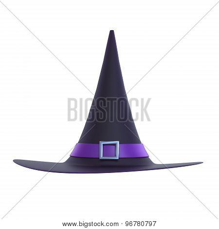 Halloween Witch Hat 3D