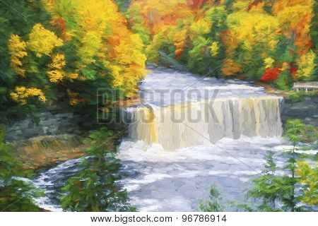 Fine Art Of Tahquamenon Falls In The Upper Peninsula Of Michagin