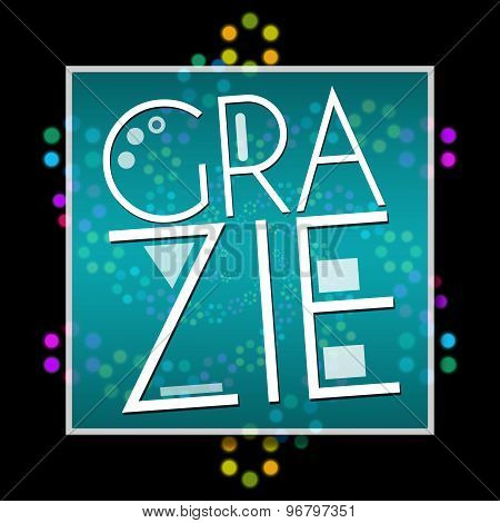 Grazie Black Colorful Neon Square
