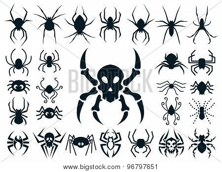 Spider Shapes Set For Halloween