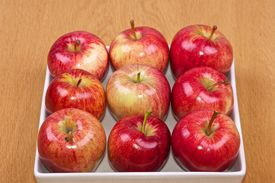 Red Apples In White Bowl