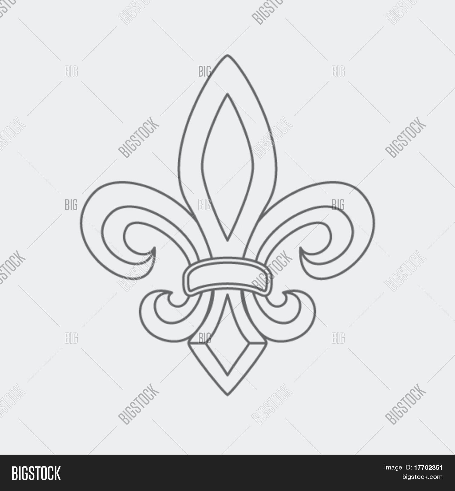 Fleur De Lis Symbol Vector Photo Free Trial Bigstock