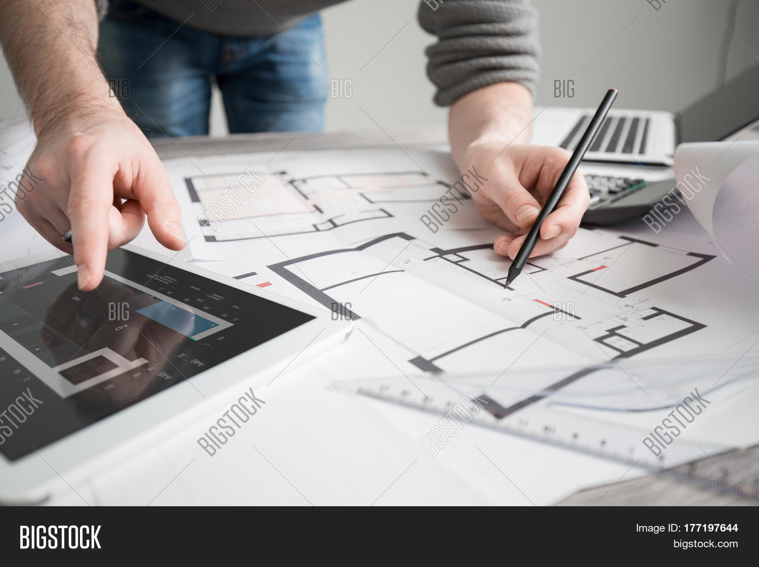 Imagen y foto architect architecture drawing bigstock architect architecture drawing project blueprint office business malvernweather Image collections