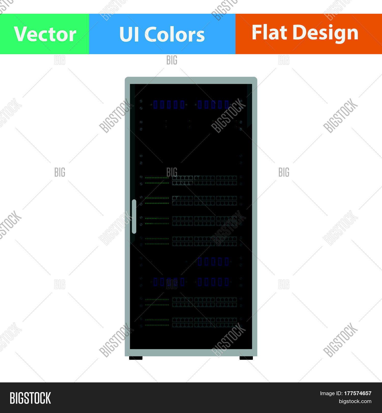 Server Rack Icon Vector Photo Free Trial Bigstock